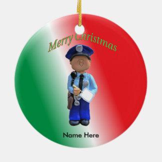 Toy Policeman Custom Christmas Christmas Ornament