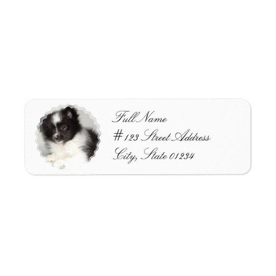 Toy Pomeranian Dog Mailing Label Return Address Label