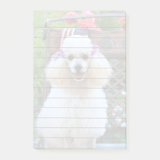 Toy Poodle  4x6 post it notes pad