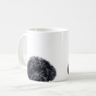 Toy poodle black coffee mug