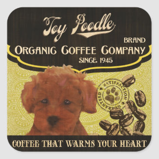 Toy Poodle Brand – Organic Coffee Company Square Sticker