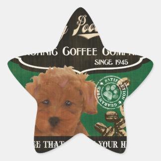 Toy Poodle Brand – Organic Coffee Company Star Sticker