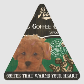 Toy Poodle Brand – Organic Coffee Company Triangle Stickers