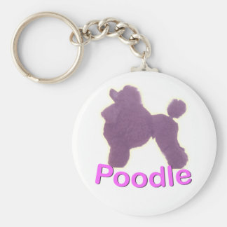 Toy Poodle Cradle in Purple / Pink Keychain
