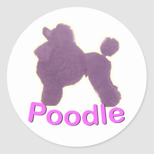 Toy Poodle Cradle in Purple / Pink Sticker
