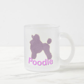 Toy Poodle Cradle Purple / Pink Frosted Glass Mug