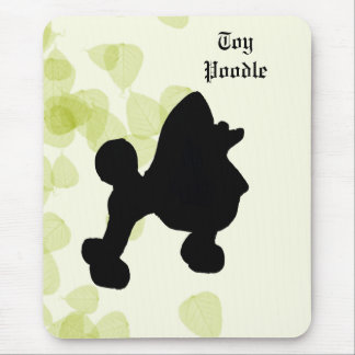 Toy Poodle ~ Green Leaves Design Mouse Pad