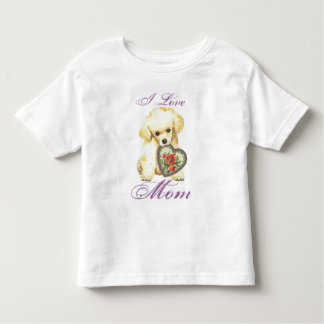 Toy Poodle Heart Mom Toddler T-Shirt
