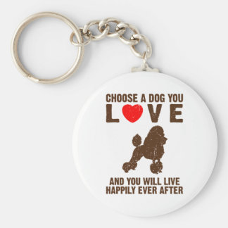 Toy Poodle Key Ring