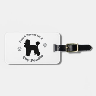 Toy Poodle Luggage Tag