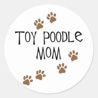 Toy Poodle Mom Round Sticker