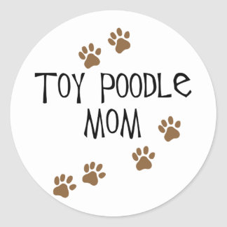 Toy Poodle Mom Round Stickers