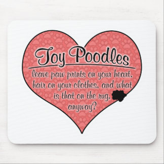 Toy Poodle Paw Prints Dog Humor Mouse Pad