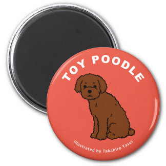 Toy Poodle Round Magnet