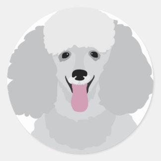 Toy Poodle Round Sticker