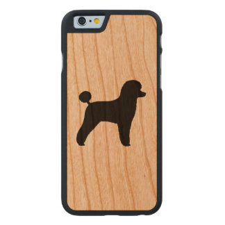 Toy Poodle Silhouette Carved Cherry iPhone 6 Case