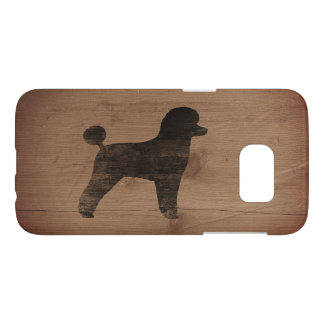 Toy Poodle Silhouette Rustic