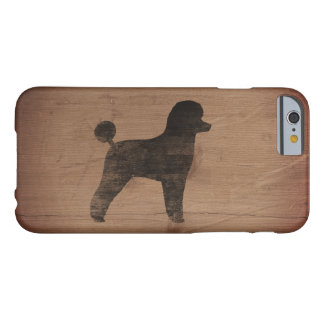 Toy Poodle Silhouette Rustic Barely There iPhone 6 Case