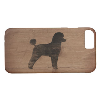 Toy Poodle Silhouette Rustic iPhone 8/7 Case
