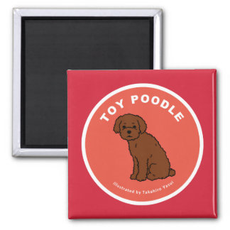 Toy Poodle Square Magnet