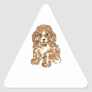 TOY POODLE TRIANGLE STICKERS
