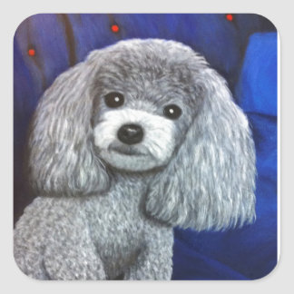 Toy Poodle Square Sticker