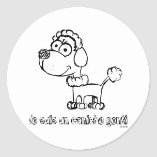Toy Poodle Classic Round Sticker