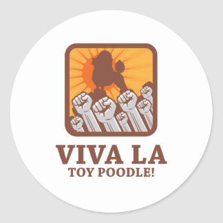 Toy Poodle Round Stickers