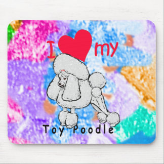 Toy Poodle title Mouse Pad