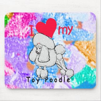 Toy Poodle title Mousepad