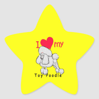 Toy Poodle title Star Sticker