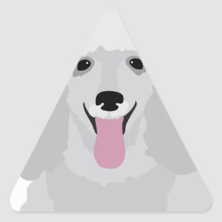 Toy Poodle Triangle Sticker