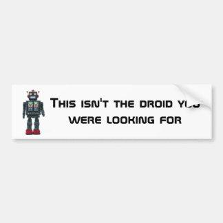Toy Robot bumper sticker