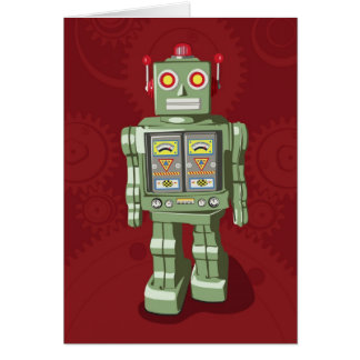 Toy Robot Holiday Card
