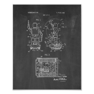 Toy Robot Patent - Chalkboard Poster