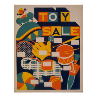 Toy Sale Artwork Party Vintage Poster