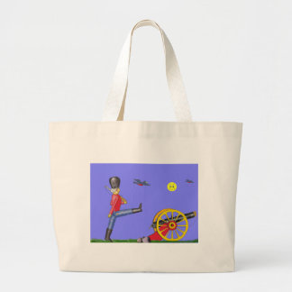 Toy Soldier and Toy Cannon...Tote Bag. Jumbo Tote Bag