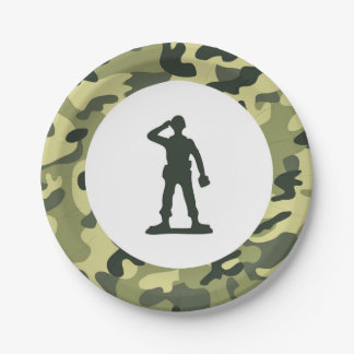 Toy Soldier Army Paper Dessert Plate