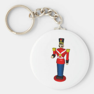 Toy Soldier Basic Round Button Key Ring