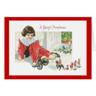 Toy Soldier Christmas Greeting Card