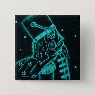 Toy Soldier in Black and Aqua 15 Cm Square Badge