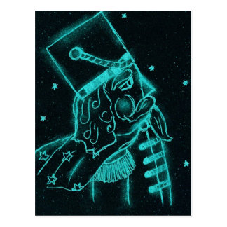 Toy Soldier in Black and Aqua Postcard