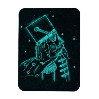 Toy Soldier in Black and Aqua Rectangular Photo Magnet