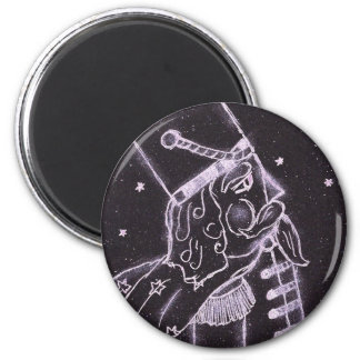 Toy Soldier in Black and Purple 6 Cm Round Magnet