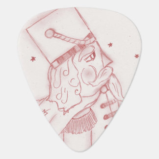 Toy Soldier in Red & White Guitar Pick