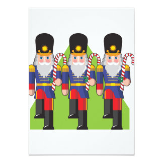 Toy Soldiers Holding Candy Canes Invitations