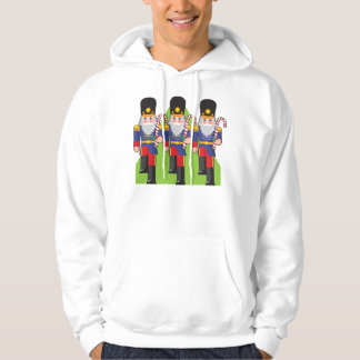 Toy Soldiers Holding Candy Canes Mens Hoodie