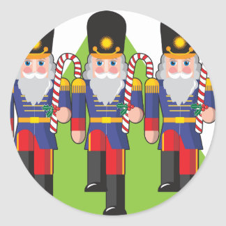 Toy Soldiers Holding Candy Canes Stickers