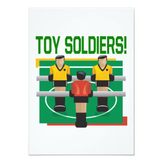 "Toy Soldiers 5"" X 7"" Invitation Card"