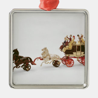 Toy stagecoach christmas ornament